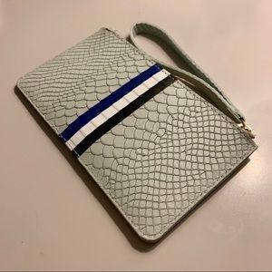 Blue Leather GiGi New York Wristlet